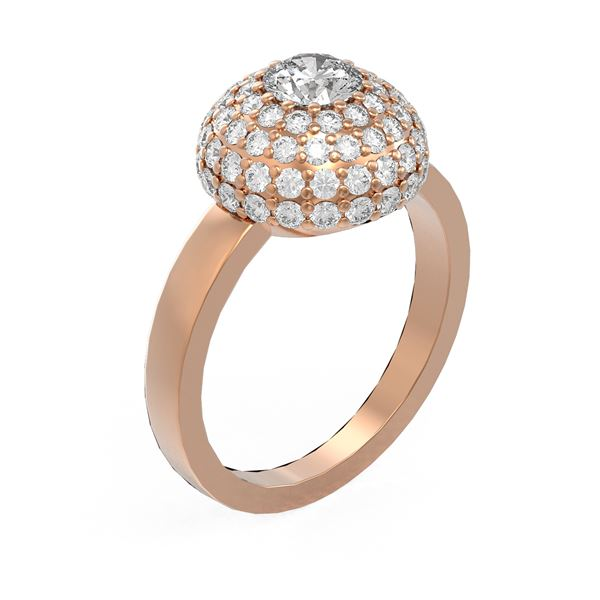 2 ctw Diamond Ring 18K Rose Gold - REF-238M4G
