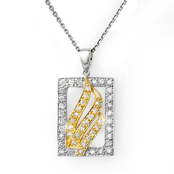 0.45 ctw Certified VS/SI Diamond Necklace 10K 2-Tone 10k 2-Tone Gold - REF-28H2R