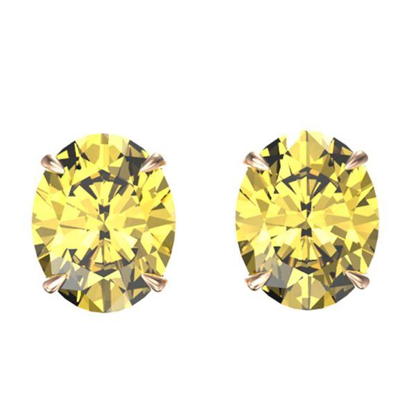 5 ctw Citrine Designer Stud Earrings 14k Rose Gold - REF-17F8M