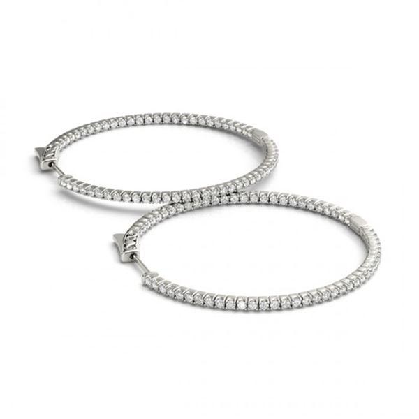0.5 ctw Diamond VS/SI 20 MM Hoop Earrings 14k White Gold - REF-47Y9X