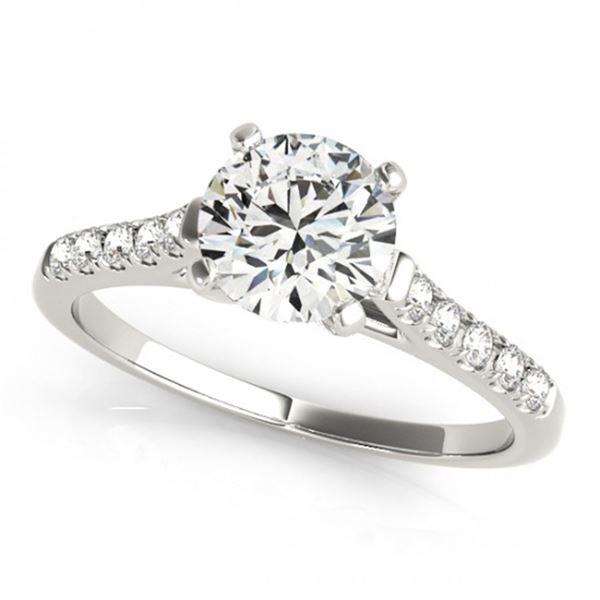 0.77 ctw Certified VS/SI Diamond Ring 18k White Gold - REF-100W9H