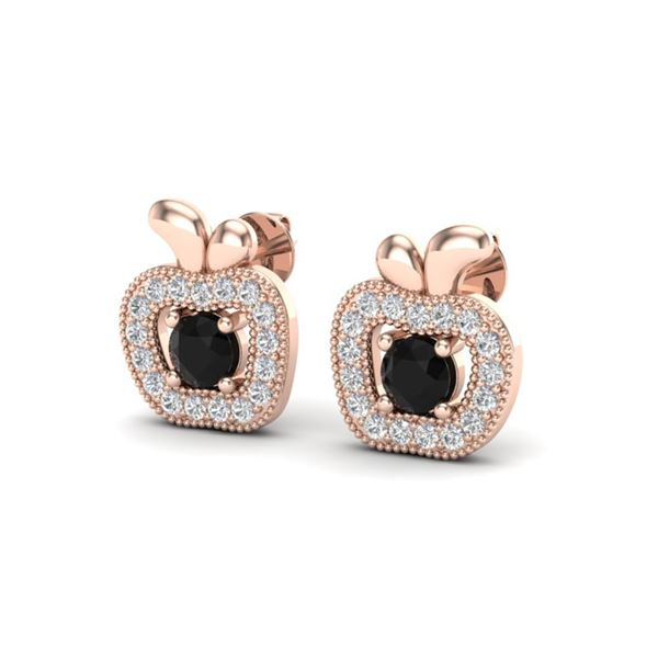 0.64 ctw VS/SI Diamond Certified Micro Pave Earrings 14k Rose Gold - REF-29W8H
