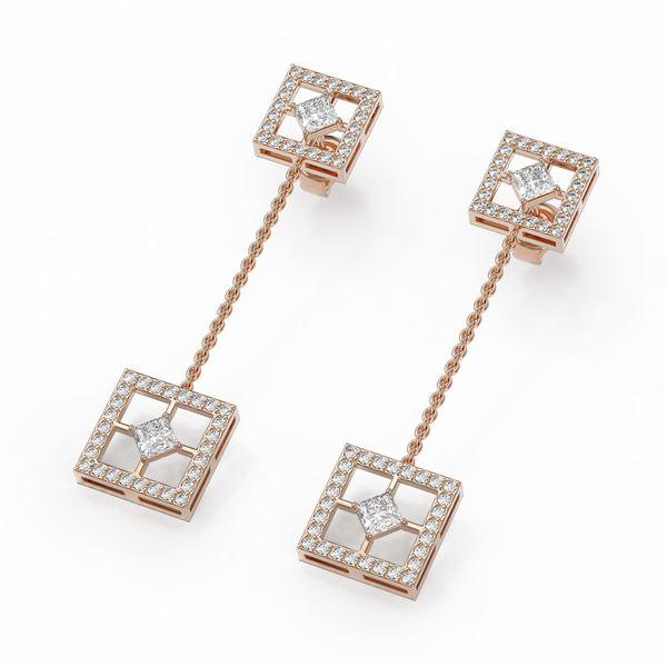 2.25 ctw Diamond Designer Earrings 18K Rose Gold - REF-264K2Y