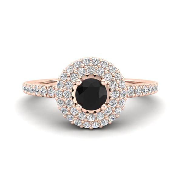 0.80 ctw Micro VS/SI Diamond Designer Ring Halo 14k Rose Gold - REF-45M3G