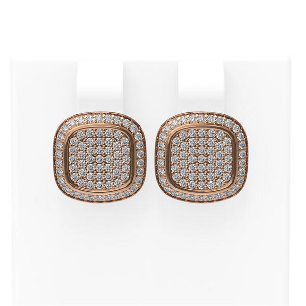 1.09 ctw Diamond Earrings 18K Rose Gold - REF-153A3N