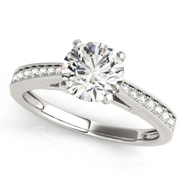 0.4 ctw Certified VS/SI Diamond Ring 18k White Gold - REF-46M4G