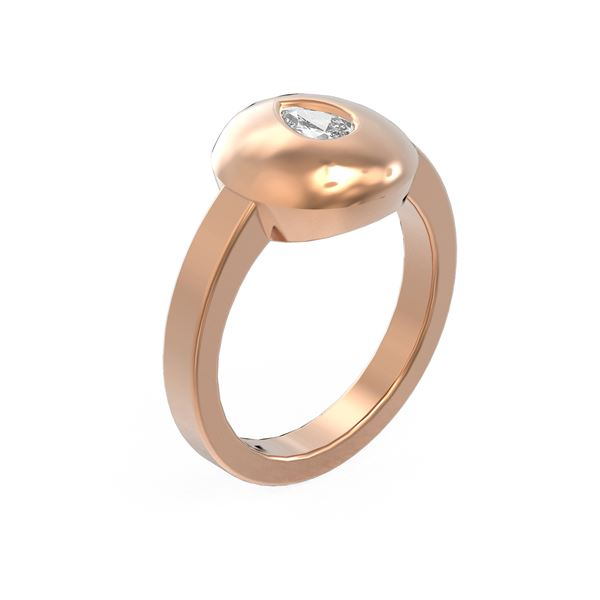 0.52 ctw Pear Diamond Ring 18K Rose Gold - REF-143G8W