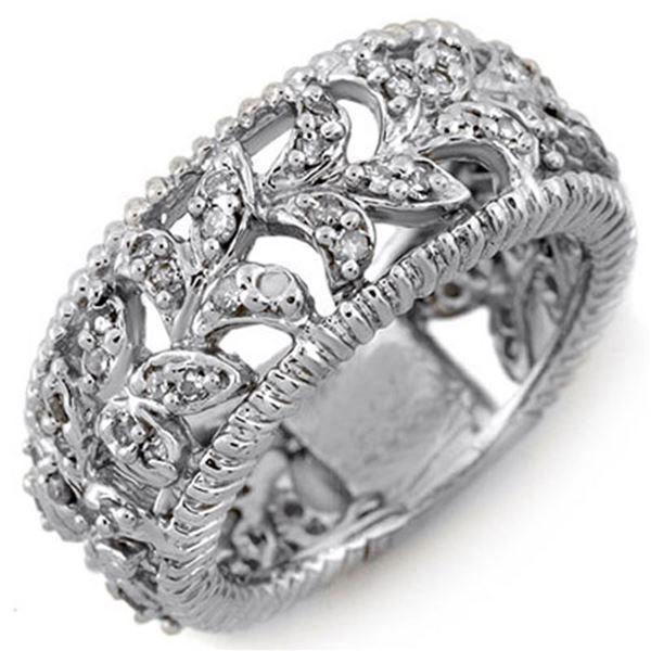 1.0 ctw Certified VS/SI Diamond Ring 14k White Gold - REF-81H3R