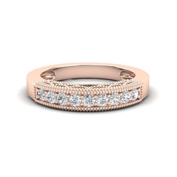 0.33 ctw VS/SI Diamond Art Deco Ring 14k Rose Gold - REF-34M3G