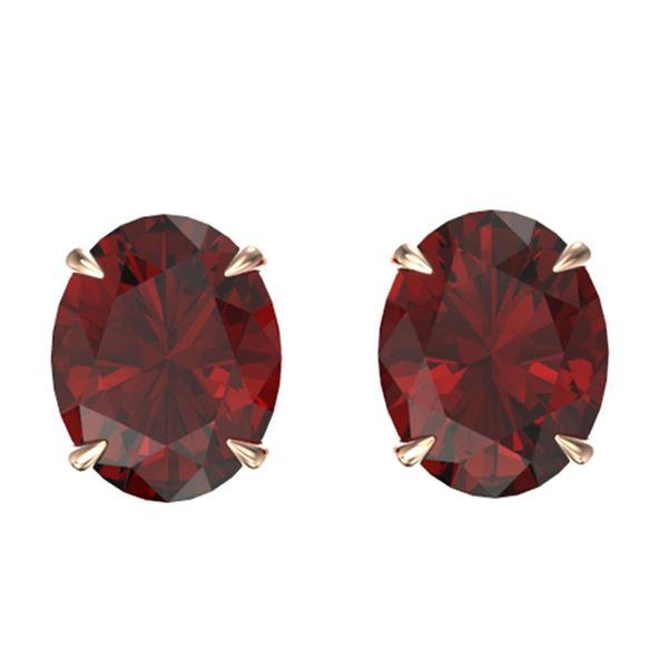 7 ctw Garnet Designer Stud Earrings 14k Rose Gold - REF-20W8H