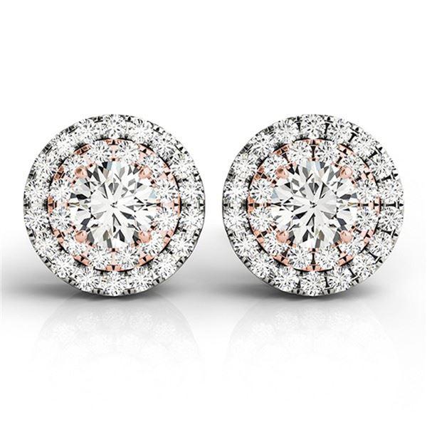 0.70 ctw Diamond Solitaire VS/SI Certified Halo 14k 2Tone Gold - REF-55H2R