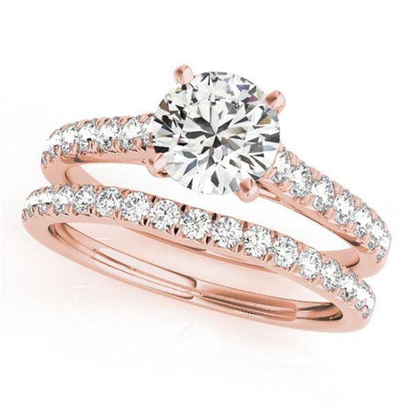 1.38 ctw Certified VS/SI Diamond 2pc Wedding Set 14k Rose Gold - REF-114X8A