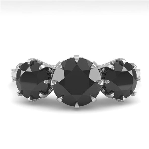 2 ctw Past Present Future Black Diamond Ring Vintage 18k White Gold - REF-82N8F