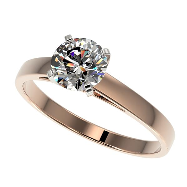 1 ctw Certified Quality Diamond Engagment Ring 10k Rose Gold - REF-139H2R