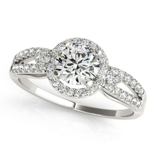 0.75 ctw Certified VS/SI Diamond Micro Pave Ring 18k White Gold - REF-89W3H