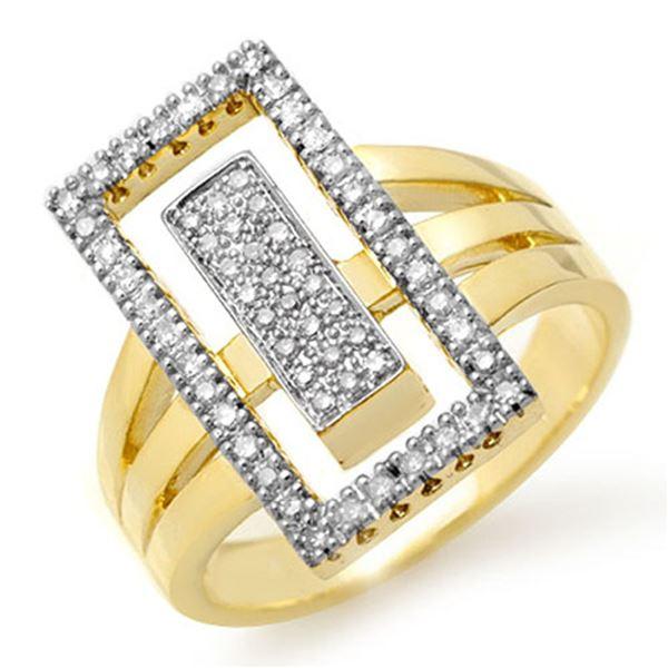 0.45 ctw Certified VS/SI Diamond Ring 10k Yellow Gold - REF-77G3W