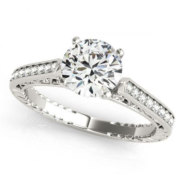 0.5 ctw Certified VS/SI Diamond Antique Ring 14k White Gold - REF-49Y6X