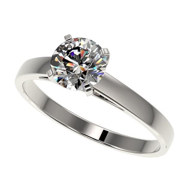 1.07 ctw Certified Quality Diamond Engagment Ring 10k White Gold - REF-139W2H