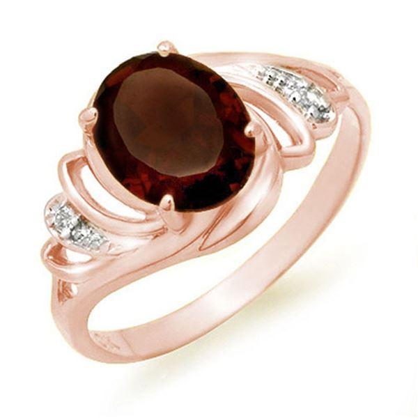 2.03 ctw Garnet & Diamond Ring 14k Rose Gold - REF-17A5N
