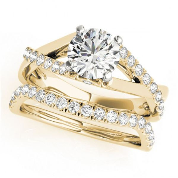 1.06 ctw Certified VS/SI Diamond 2pc Wedding Set 14k Yellow Gold - REF-115M9G
