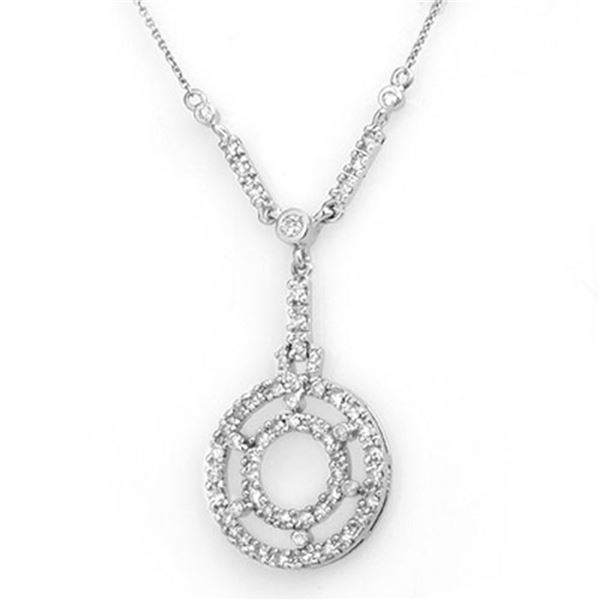 0.75 ctw Certified VS/SI Diamond Necklace 14k White Gold - REF-83F6M