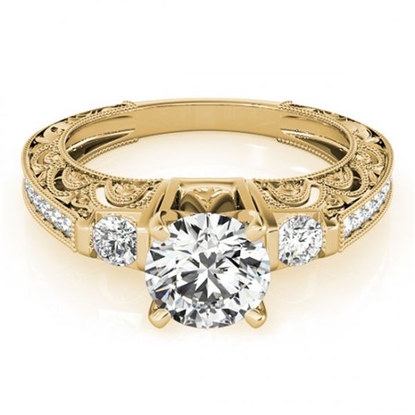 0.91 ctw Certified VS/SI Diamond Antique Ring 18k Yellow Gold - REF-100A9N