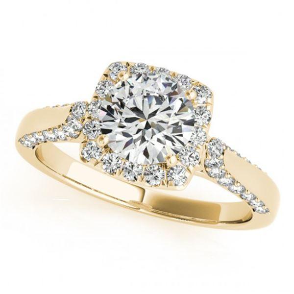 1.08 ctw Certified VS/SI Diamond Halo Ring 18k Yellow Gold - REF-105R2K