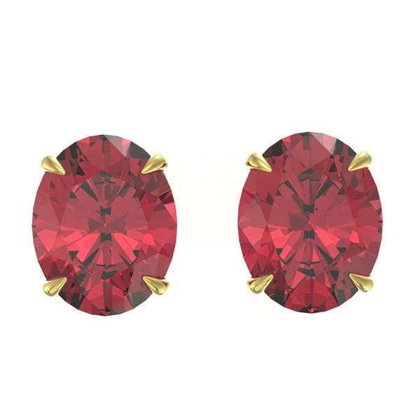 5.50 ctw Pink Tourmaline Designer Stud Earrings 18k Yellow Gold - REF-45W4H