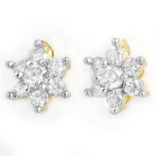0.50 ctw Certified VS/SI Diamond Earrings 14k Yellow Gold - REF-26G8W