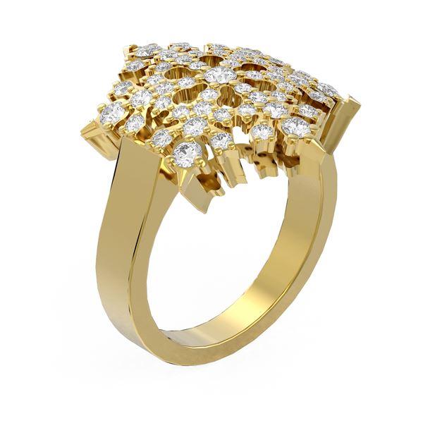 1.28 ctw Diamond Ring 18K Yellow Gold - REF-138X8A