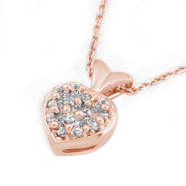 0.20 ctw Certified VS/SI Diamond Necklace 18k Rose Gold - REF-31R4K