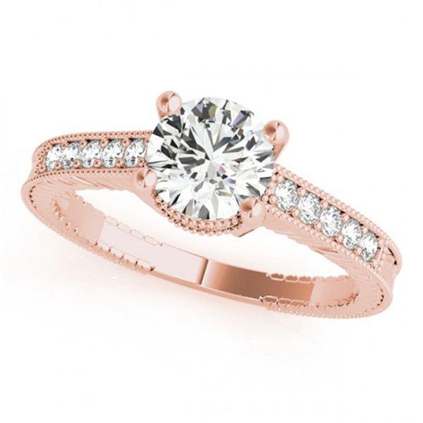 0.34 ctw Certified VS/SI Diamond Antique Ring 14k Rose Gold - REF-40H2R