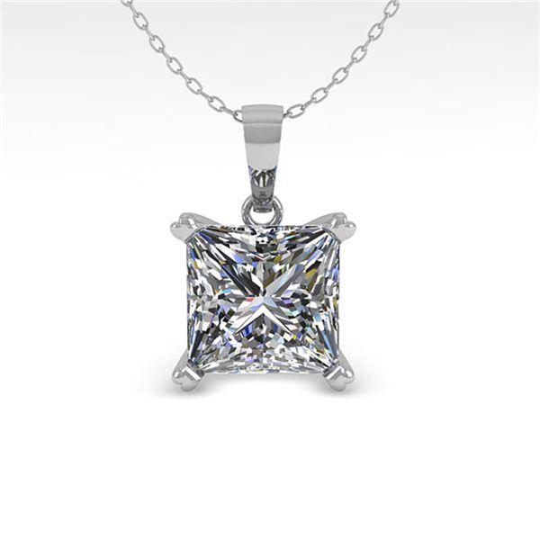 0.50 ctw VS/SI Princess Diamond Designer Necklace 18k Rose Gold - REF-70R2K