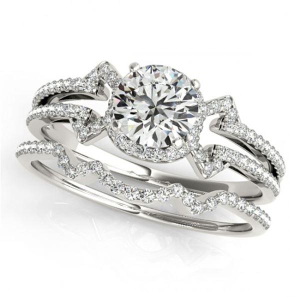 1.01 ctw Certified VS/SI Diamond 2pc Wedding Set 14k White Gold - REF-121X4A