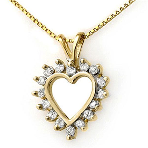 1.0 ctw Certified VS/SI Diamond Pendant 18k Yellow Gold - REF-76M4G