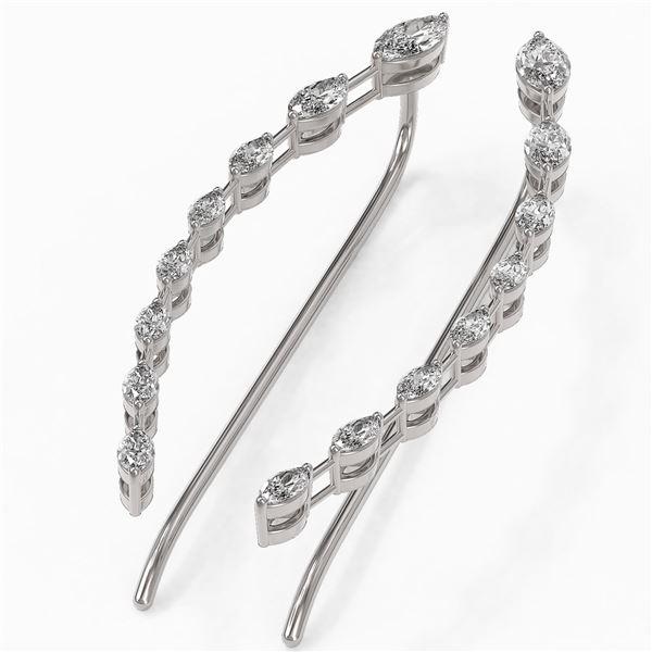 1.74 ctw Marquise Cut Diamond Designer Earrings 18K White Gold - REF-229X3A