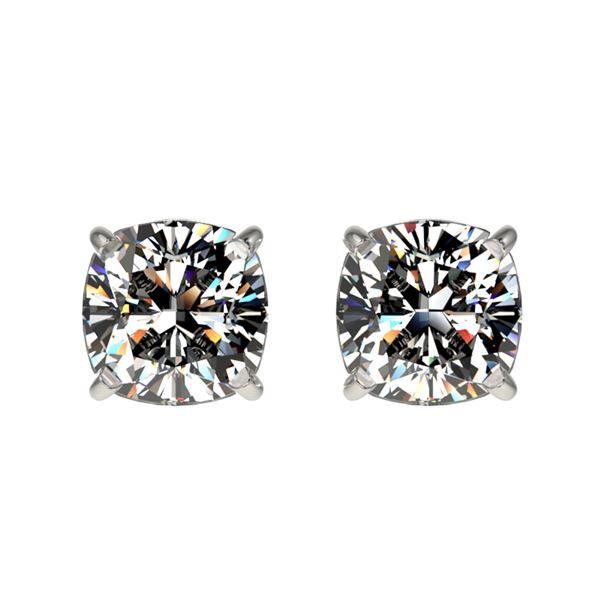 1 ctw Certified VS/SI Quality Cushion Diamond Stud Earrings 10k White Gold - REF-120R3K