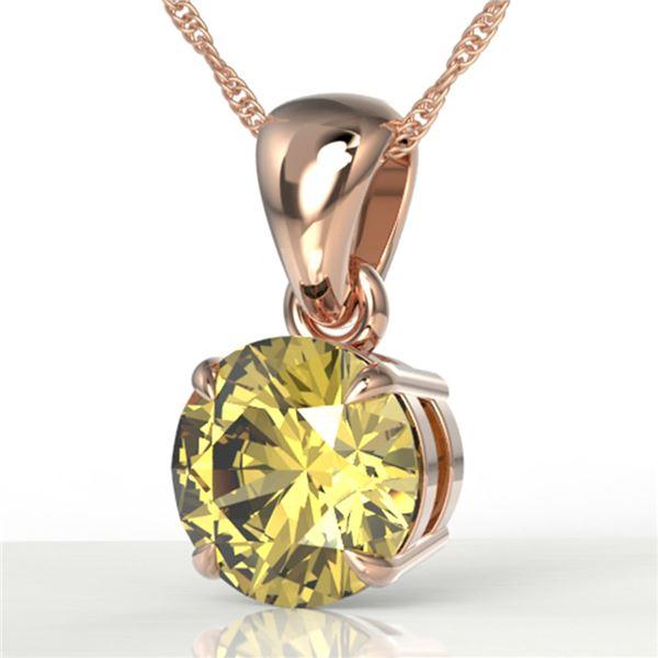 2 ctw Citrine Designer Necklace 14k Rose Gold - REF-18R3K
