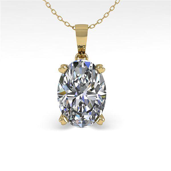 0.50 ctw VS/SI Oval Diamond Designer Necklace 18k Yellow Gold - REF-70W2H