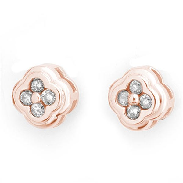 0.50 ctw Certified VS/SI Diamond Earrings 14k Rose Gold - REF-36X6A