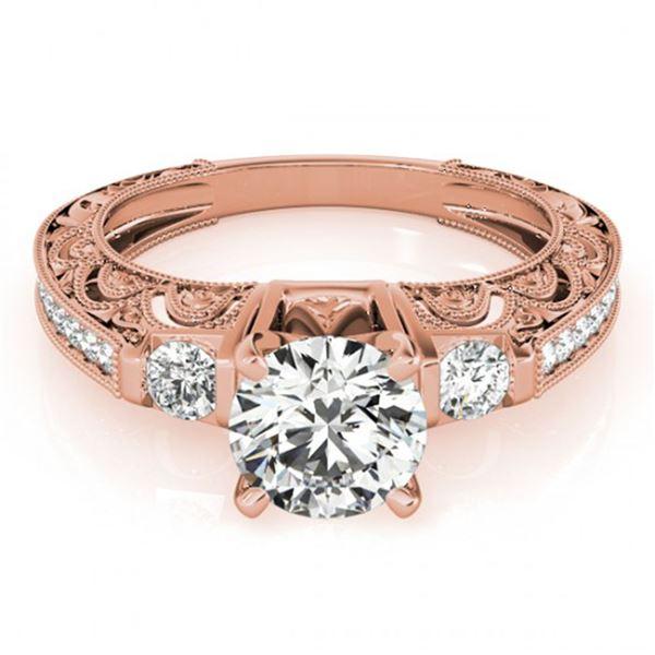 0.91 ctw Certified VS/SI Diamond Antique Ring 18k Rose Gold - REF-100Y9X