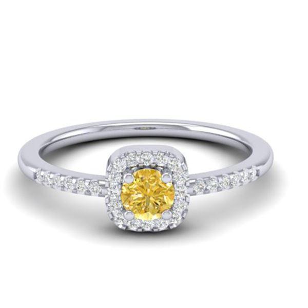 0.45 ctw CITRIEN & Micro Pave VS/SI Diamond Ring 18k White Gold - REF-20W9H