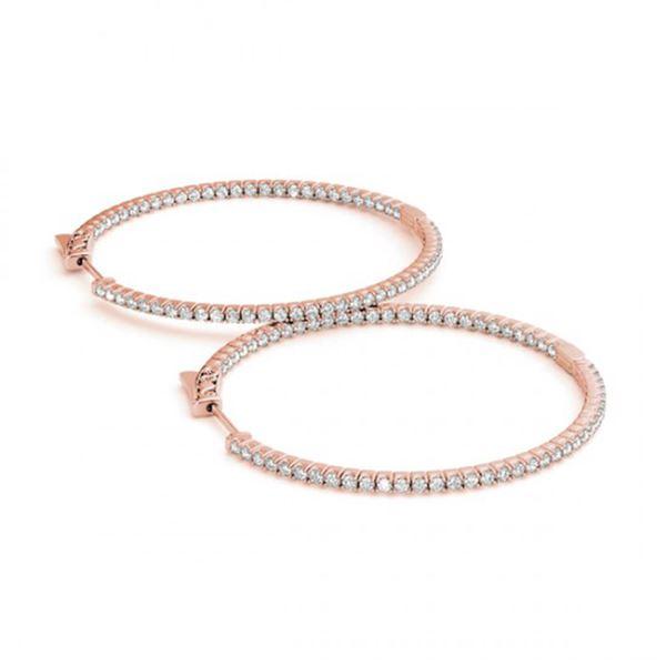 0.5 ctw Diamond VS/SI 20 MM Hoop Earrings 14k Rose Gold - REF-47A9N