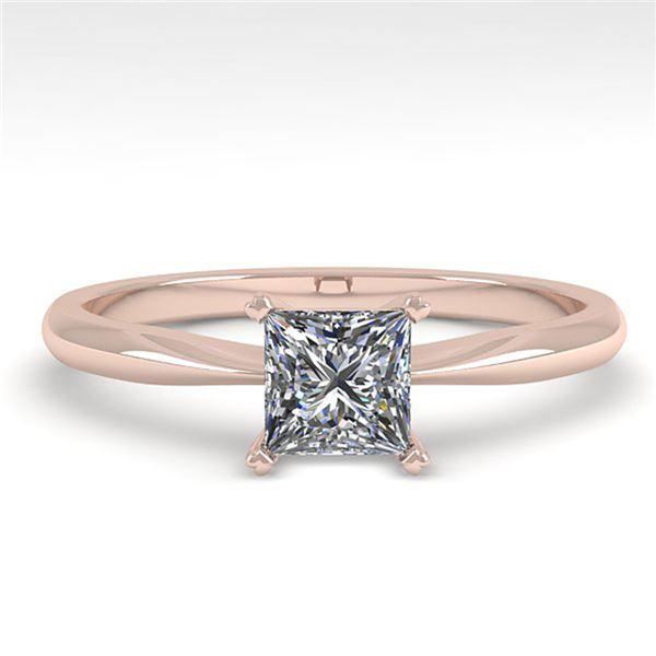 0.50 ctw Princess Cut VS/SI Diamond Engagment Ring 18k Rose Gold - REF-71G2W