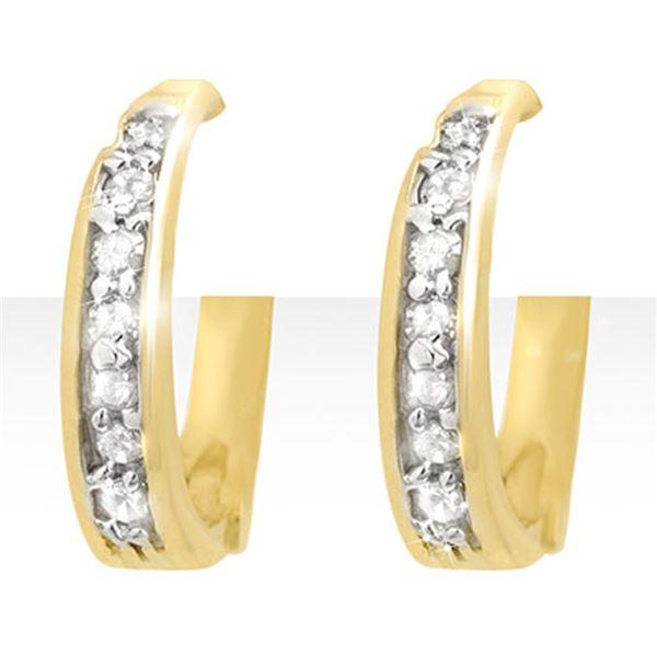 0.20 ctw Certified VS/SI Diamond Earrings 10k Yellow Gold - REF-20K5Y