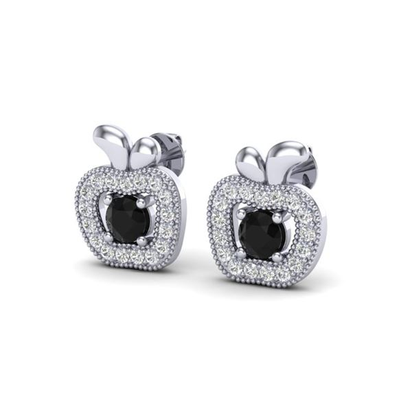 0.64 ctw VS/SI Diamond Certified Micro Pave Earrings 18k White Gold - REF-37H5R