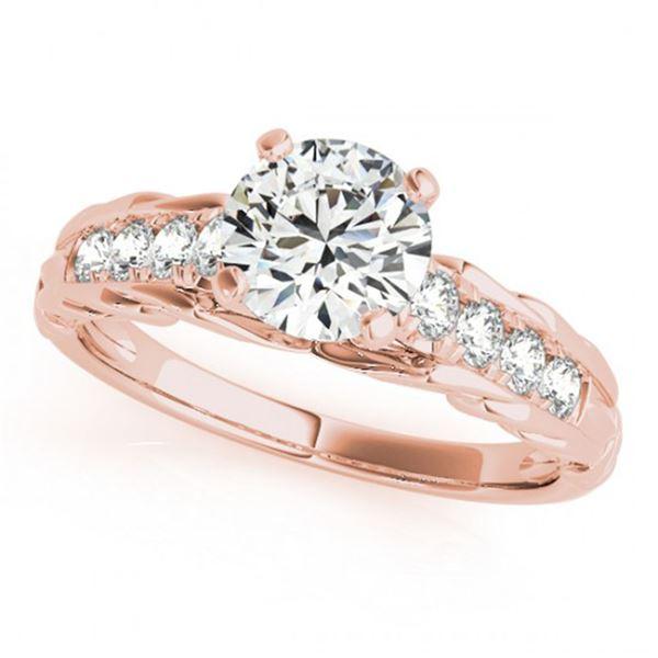 0.70 ctw Certified VS/SI Diamond Ring 18k Rose Gold - REF-98R9K