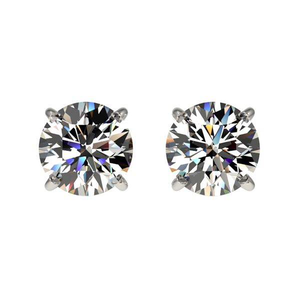 1 ctw Certified Quality Diamond Stud Earrings 10k White Gold - REF-72N3F