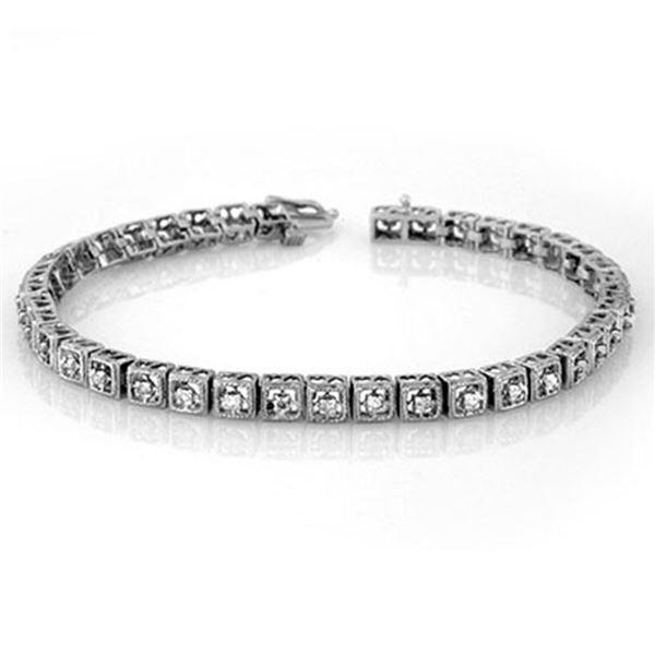 1.0 ctw Certified VS/SI Diamond Bracelet 18k White Gold - REF-146W8H