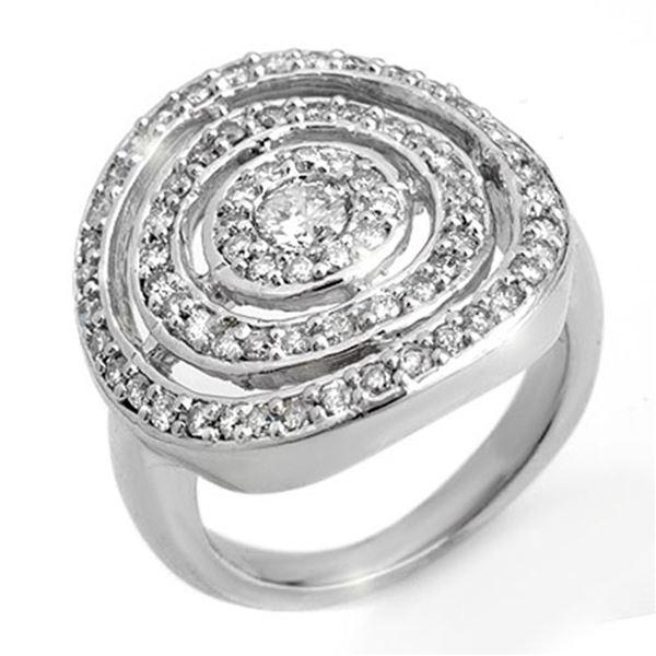 1.30 ctw Certified VS/SI Diamond Ring 14k White Gold - REF-117G8W